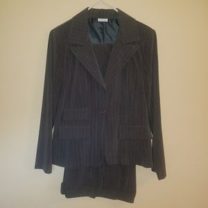 Other - Grey and white pinstripe woman's business suit